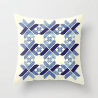Nordic Blue Throw Pillow