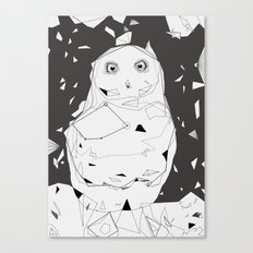 snow owl Canvas Print