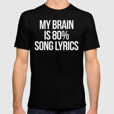 Song Lyrics Funny Quote Mens Fitted Tee Black SMALL
