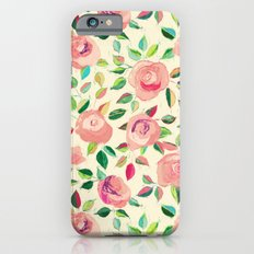 Pastel Roses in Blush Pink and Cream  Slim Case iPhone 6s