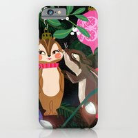Chipmunk Kisses Holiday Card iPhone 6 Slim Case