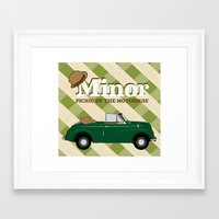Minor Framed Art Print