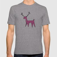 Pink deer  Mens Fitted Tee Athletic Grey SMALL