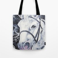 Pale White Horse Tote Bag