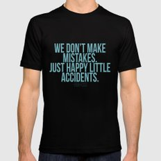 Happy Accidents SMALL Mens Fitted Tee Black