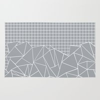 Abstract Outline Grid Gr… Rug
