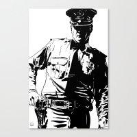 Guard with gun Canvas Print