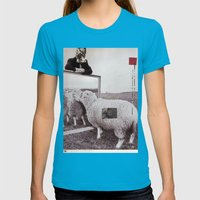 Rumi Womens Fitted Tee Teal SMALL