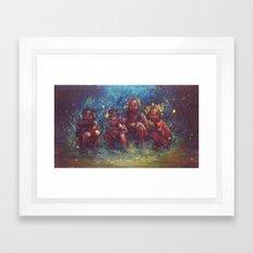 Children of the Gaia Tribe Framed Art Print