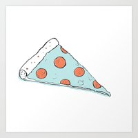 pizza Art Print