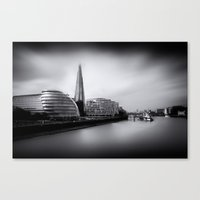 London City and The Shard.  Canvas Print