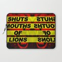 SHUTS MOUTHS OF LIONS (Daniel 6:22) Laptop Sleeve