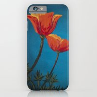 iPhone & iPod Case featuring California Dreamin' - Orange Poppies  by Charlotte Curtis