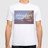 Adventure is out there Mens Fitted Tee Ash Grey SMALL