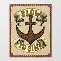 Slow To Sink Canvas Print