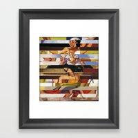 Glitch Pin-Up Redux: Hea… Framed Art Print