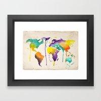 World Splash Framed Art Print