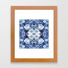 Blue Silk Tie-Dye Framed Art Print