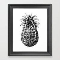 Ornate Pineapple Framed Art Print