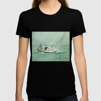 Sail Womens Fitted Tee Black SMALL