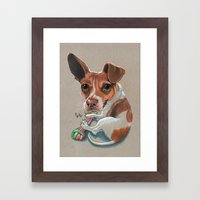 Rex Puppy Dog Art Framed Art Print
