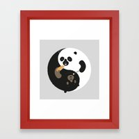 Yin-Yank Framed Art Print