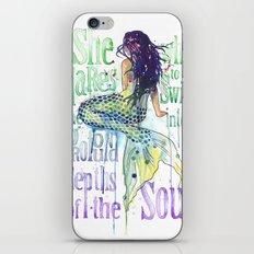 Mermaid : Profound Depths iPhone & iPod Skin