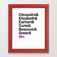 A Short List of Notable Ladies Framed Art Print