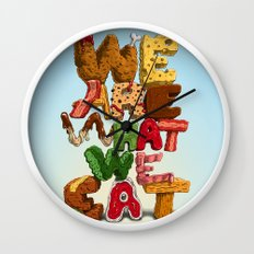 We are what we eat Wall Clock