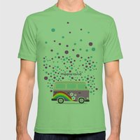 Hippie Land Mens Fitted Tee Grass SMALL