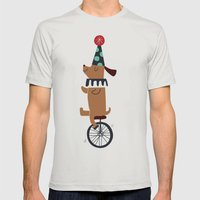 circus dog Mens Fitted Tee Silver SMALL