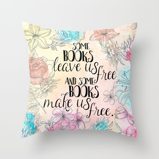 Some Books Make Us Free Throw Pillow