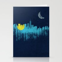 city that never sleeps Stationery Cards