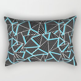 Rectangular Pillow - Ab 2 Repeat Blue - Project M