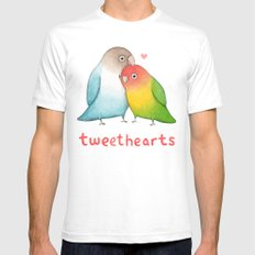 Tweethearts Mens Fitted Tee White SMALL