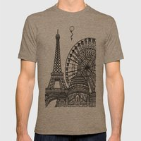 Paris Silhouettes Mens Fitted Tee Tri-Coffee SMALL