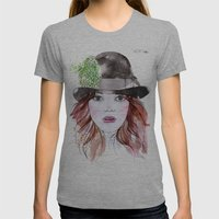 Emma Stone Womens Fitted Tee Athletic Grey SMALL