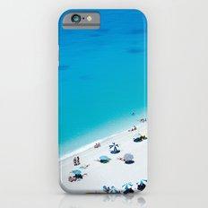 The beach. Blue sea mediterranean Greek beach. Summer seascape photography iPhone 6s Slim Case