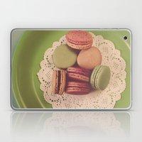 Macarons on Green Laptop & iPad Skin