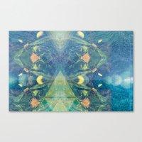 Deep Space Aphelionic Vegetation Surface Discovery Canvas Print