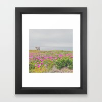 Across The Flowers To Th… Framed Art Print