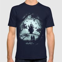 Dark Crystal Dreams Mens Fitted Tee Navy SMALL