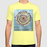 Round Sea Mens Fitted Tee Lemon SMALL