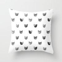 Cat! Throw Pillow