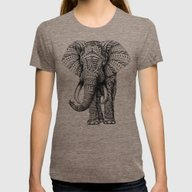 T-shirt featuring Ornate Elephant by BIOWORKZ