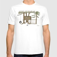 Tree Fort Mens Fitted Tee White SMALL