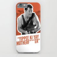 iPhone & iPod Case featuring Badass 80's Action Movie Quotes - Die Hard by Casa del Kables