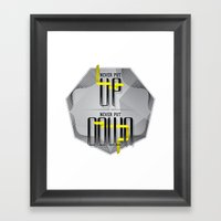 Up Down Type Framed Art Print