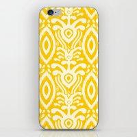 Yellow Ikat Pattern iPhone & iPod Skin