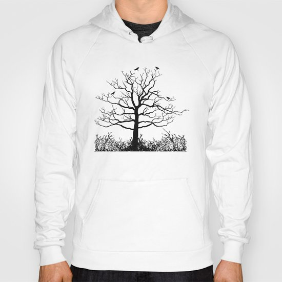 Graffiti Tree B/W Hoody